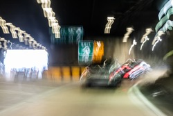 First person view perspective of what drunk driving looks like. A blurry image showing impaired vision while driving a car.