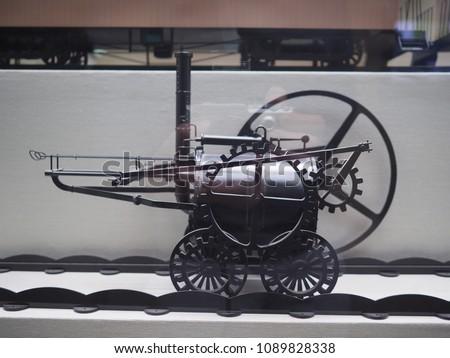 first steam railway locomotive