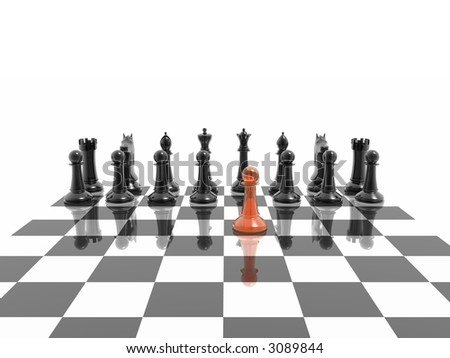 first step of chess competition