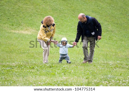 First steps with grandparents