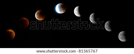 First total lunar eclipse took place after a gap of three years. Seen here is a selection of images catching the moment from just before total eclipse onwards.