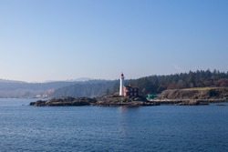 Fisgard Lighthouse National Historic Site in Esquimalt, British Columbia