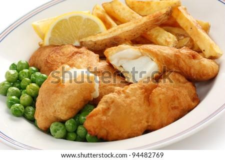 fish and chips, british food Stock photo ©