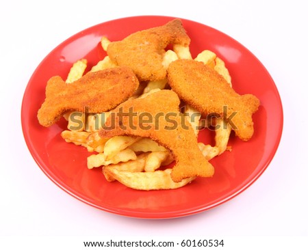 Fish and chips - fish shaped fish fingers for kids