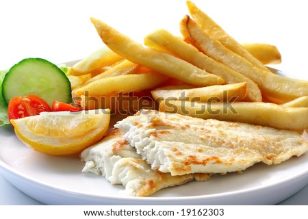clipart illustration of fish and chips cartoon - acclaim stock