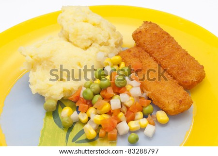 Fish and vegetables