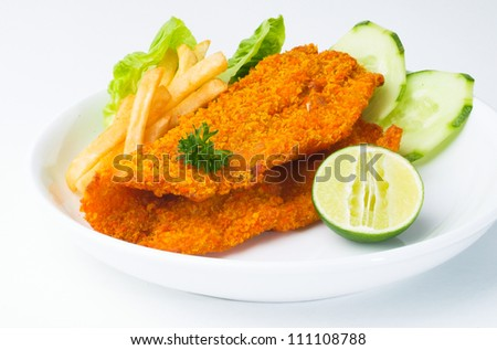 Fish & chips and a background