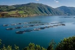 Fish farms on the Kizilirmak River