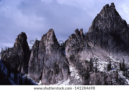 Fish Fin Ridge is part of the Big Horn Crags in the central Idaho wilderness.