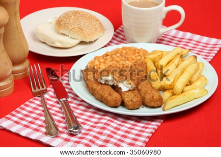 http://image.shutterstock.com/display_pic_with_logo/856/856,1249940906,9/stock-photo-fish-fingers-with-chips-and-baked-beans-35060980.jpg