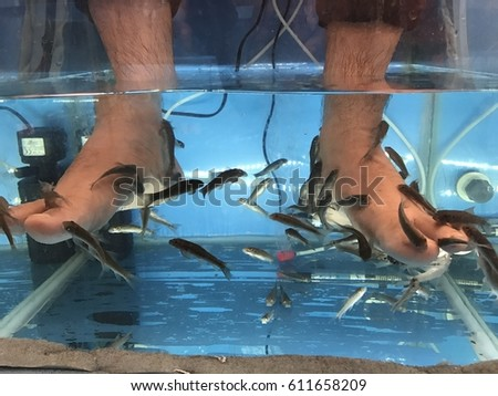 fish foot massage  #611658209