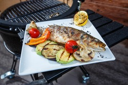 fish grilled barbecue