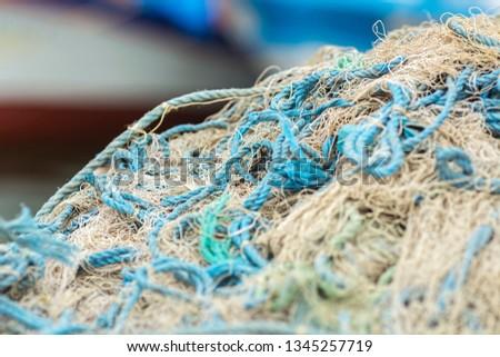 Fish in net ,Fishing net texture