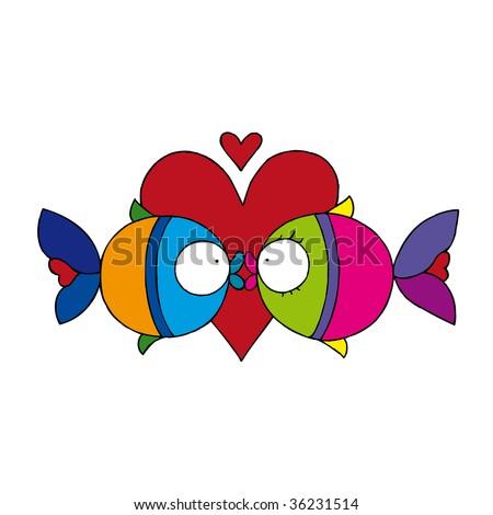 Kissing Fish Tattoo