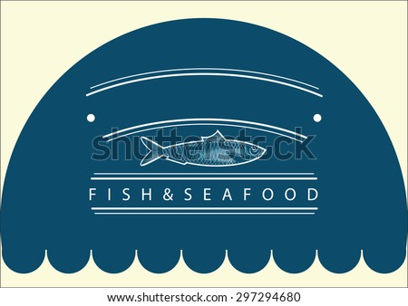 Fish restaurant, business concept, fish logo