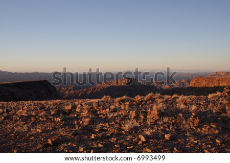 Fish river canyon at sunrise