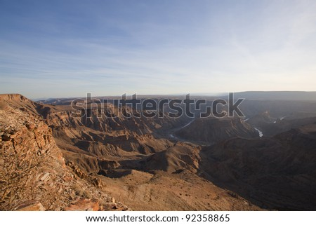 Fish River canyon the second largest canyon in the world, South Namibia