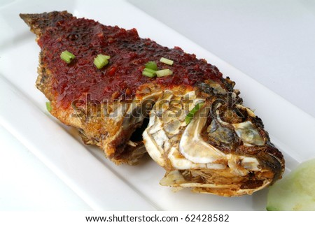 Fish serve with vegetable white rice hot and spicy for What to serve with fish