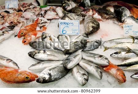 fish shop in barcelona spain stock photo 80962399 fish shop 450x307