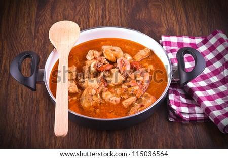 Fish soup. - stock photo