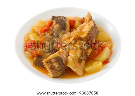 fish stew on the plate