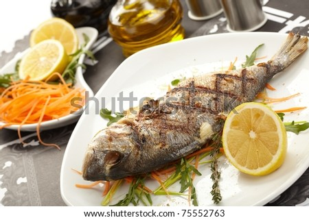 fish with lemon