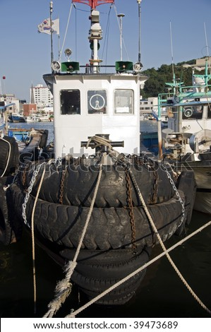 Fisher boat in the Port of Tongyeong, South korea