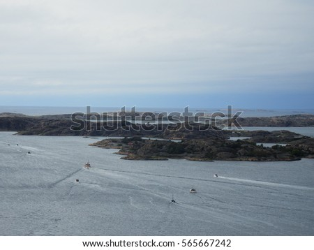 Stock Photo fisher boats at the swedish west coast