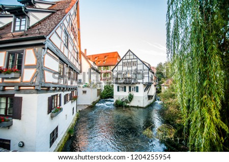 Fisher district or fishermen quarter in Ulm city center, Germany