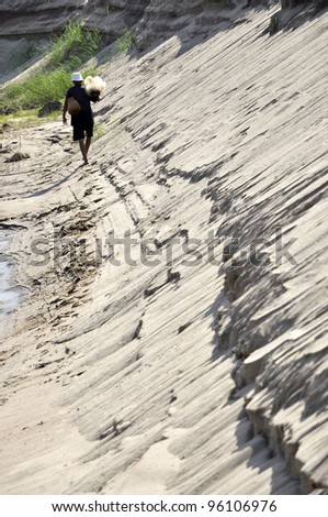 Fisherman Asia Walk Beach Net Creel