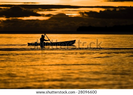 Fisherman at dusk