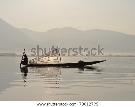 Fisherman at Inle lake, Myanmar / Burma