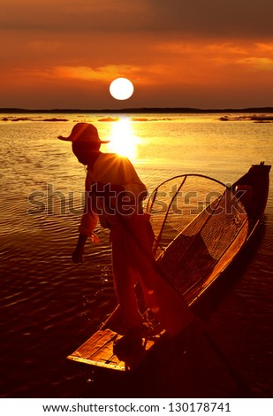 Fisherman, Inle Lake, Myanmar (Burma)