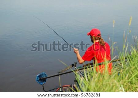 Fisherman on a beautiful river