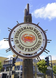 Fisherman's Wharf sign, San Francisco California