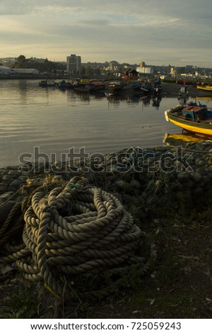 Fisherman scene #725059243