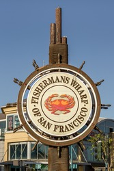 Fishermans Wharf of San Francisco Sign