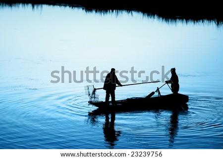 fishermen on water