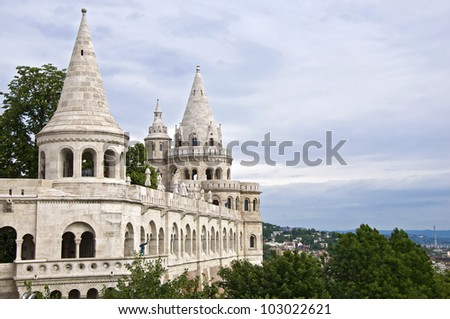 Fishermens Bastion on Castle Hill, Budapest, Hungary