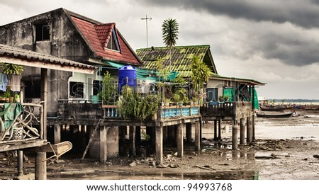 Fishery Village - stock photo