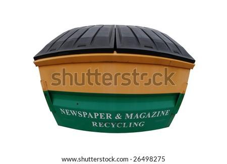 fisheye view of the recycle bin