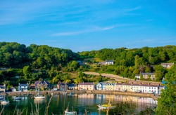 Fishguard old lower town  Pembrokeshire  fishing  village