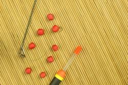 Fishing accessories - float, hooks, bait