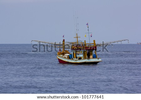 Fishing Boat at Kuraburi  in Thailand