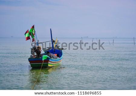 Fishing boat Ban Bo It Songkhla Thailand #1118696855
