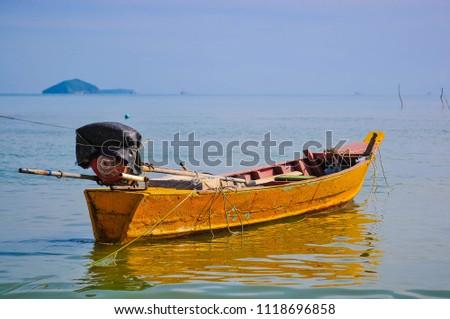 Fishing boat Ban Bo It Songkhla Thailand #1118696858