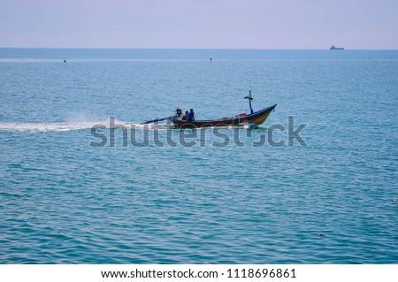 Fishing boat Ban Bo It Songkhla Thailand #1118696861