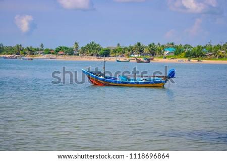 Fishing boat Ban Bo It Songkhla Thailand #1118696864