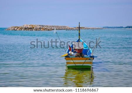 Fishing boat Ban Bo It Songkhla Thailand #1118696867