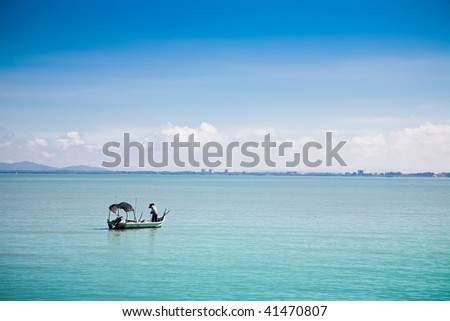 Fishing boat in Penang bay. Penang collection.